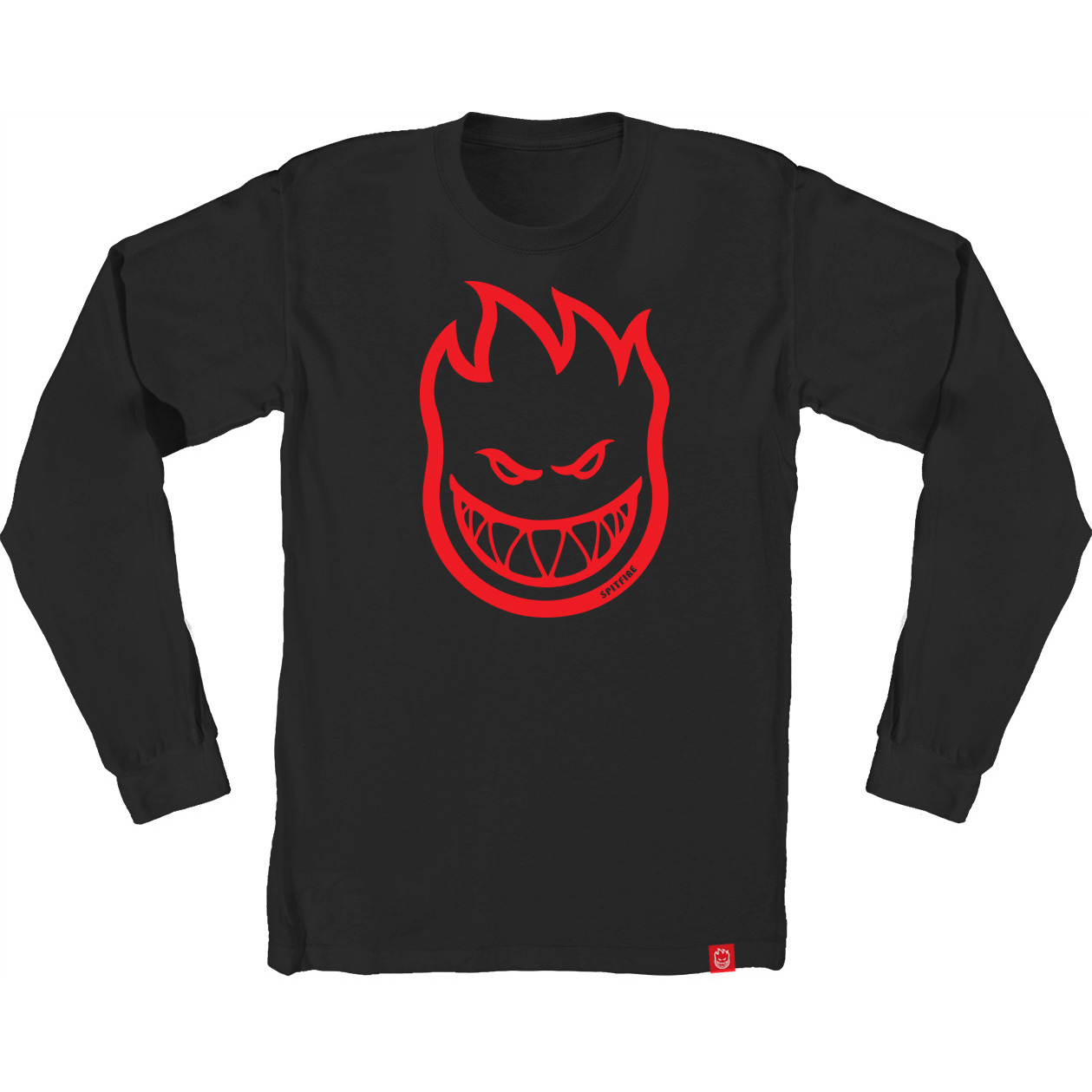 SF LS TEE BIGHEAD BLK/RED S - Click to enlarge