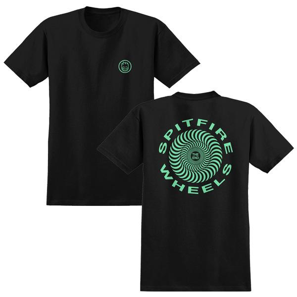 SF TEE RETRO CLSC BLK/GLOW L - Click to enlarge