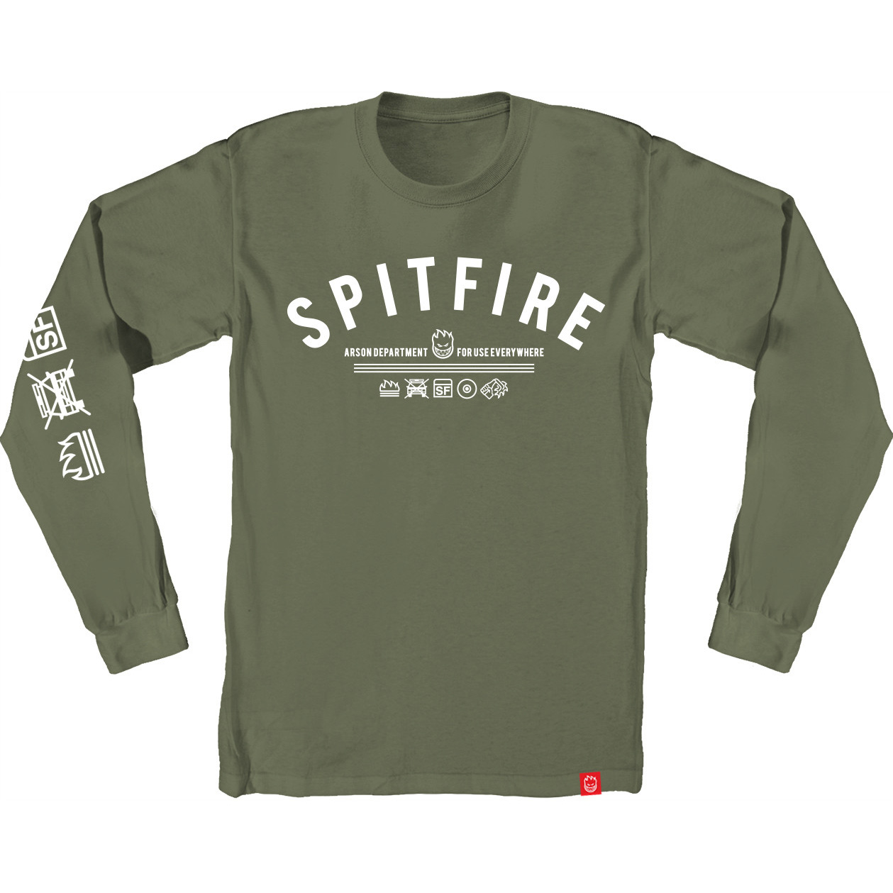 SF LS TEE BURN DVSION GRN XL - Click to enlarge