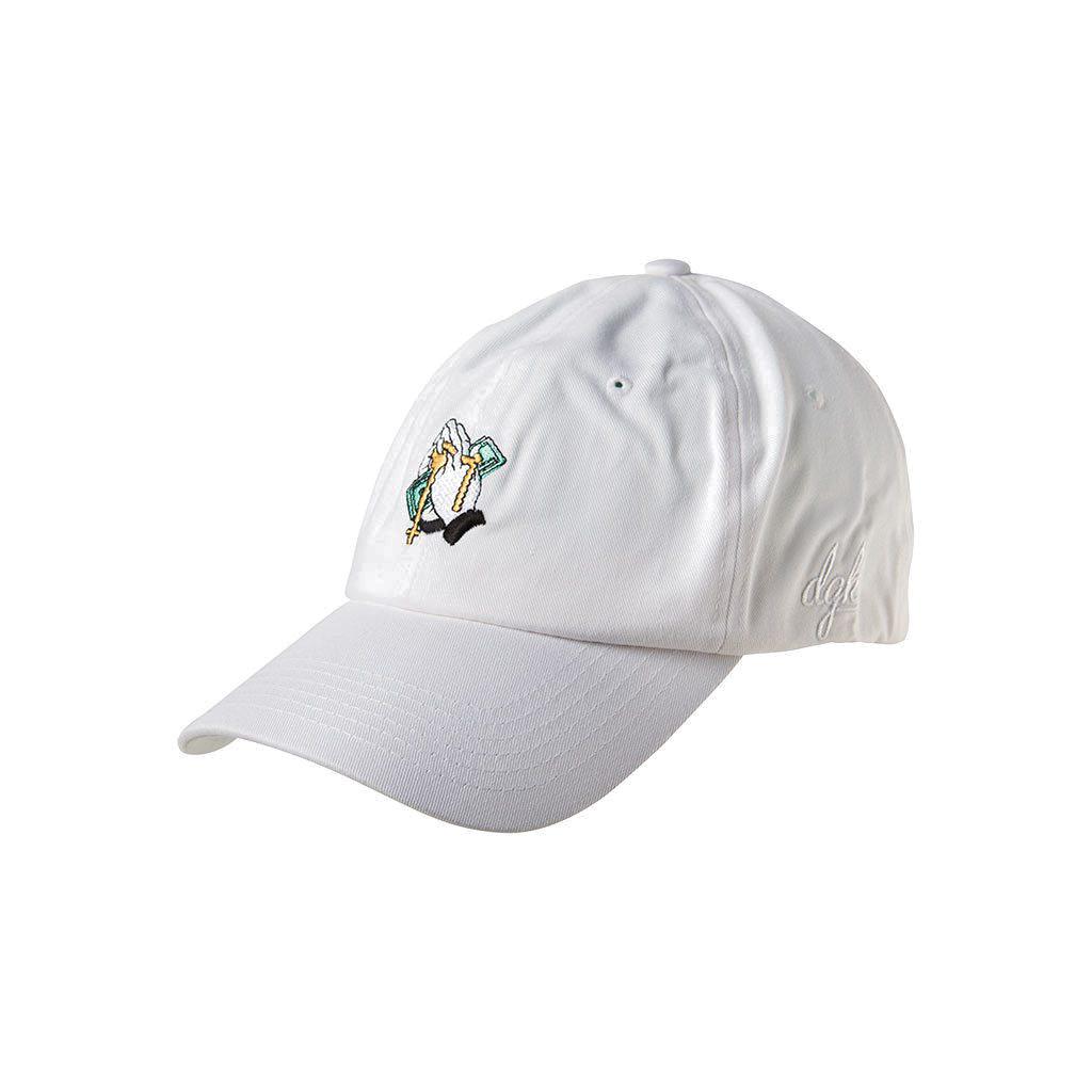 DGK CAP ADJ BLESSED WHT - Click to enlarge