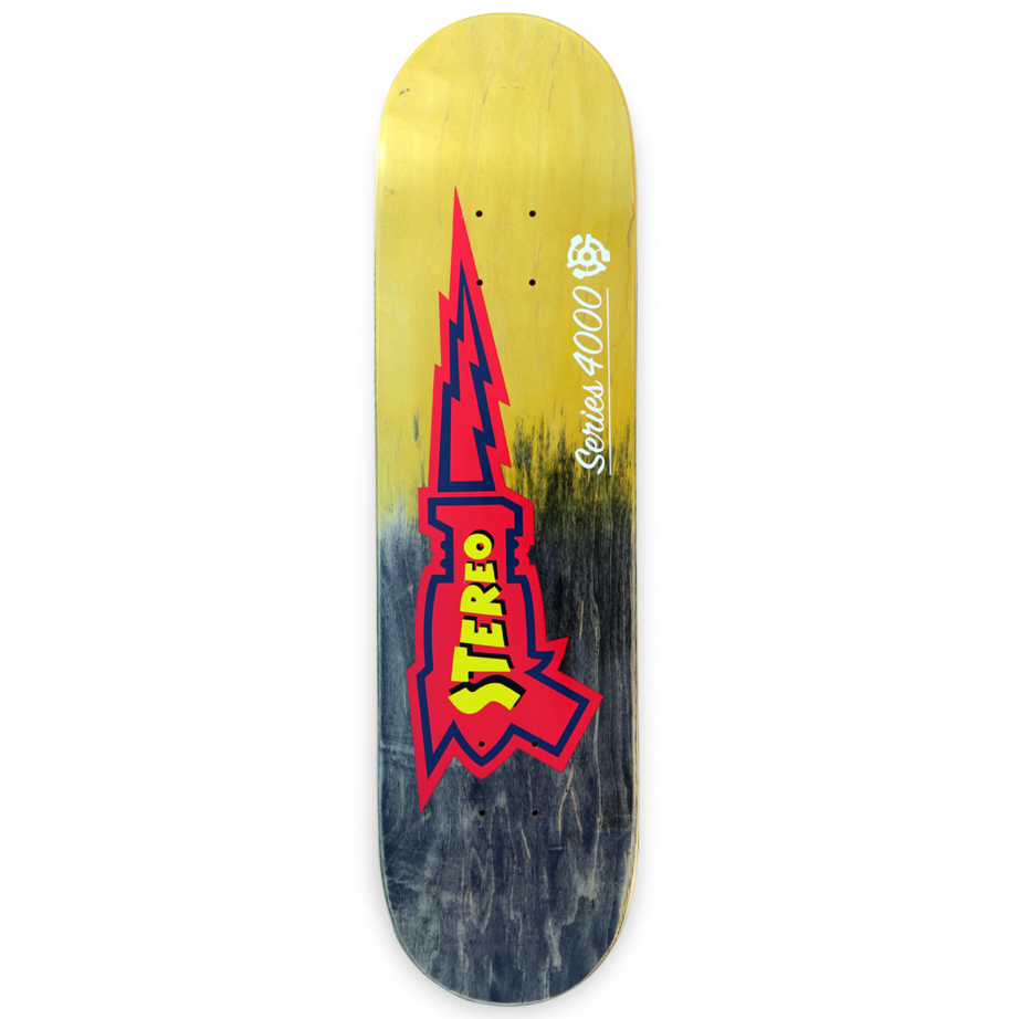 STE DECK RAYGUN BLK/YEL 8.0 - Click to enlarge