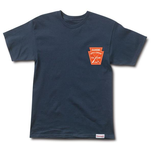 DMD TEE FISH GAME CREST NVY S - Click to enlarge