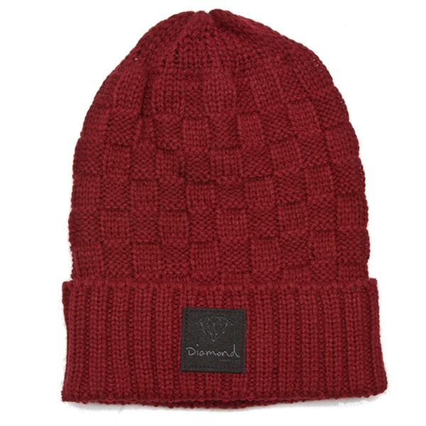 DMD BEANIE CHKR FOLD RED - Click to enlarge