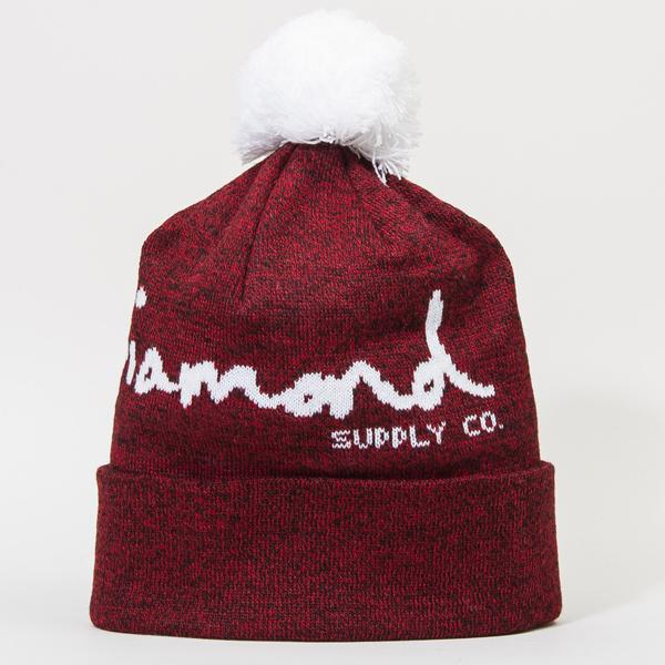 DMD BEANIE OG SCRIPT POM BURG - Click to enlarge