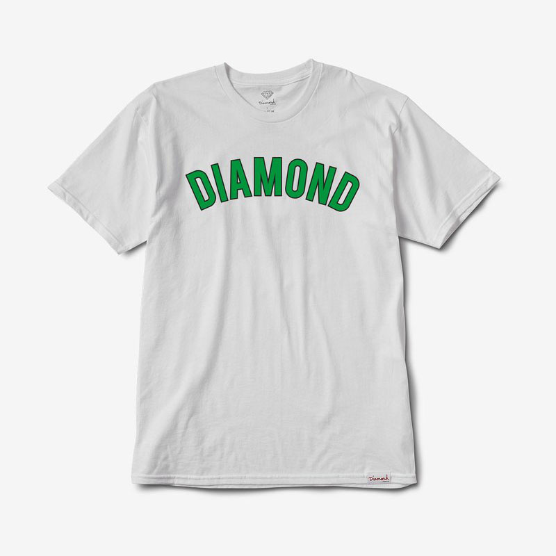 DMD TEE DIAMOND ARCH WHT M - Click to enlarge