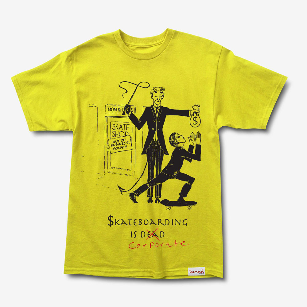 DMD TEE SKATE CRIME YLW S - Click to enlarge