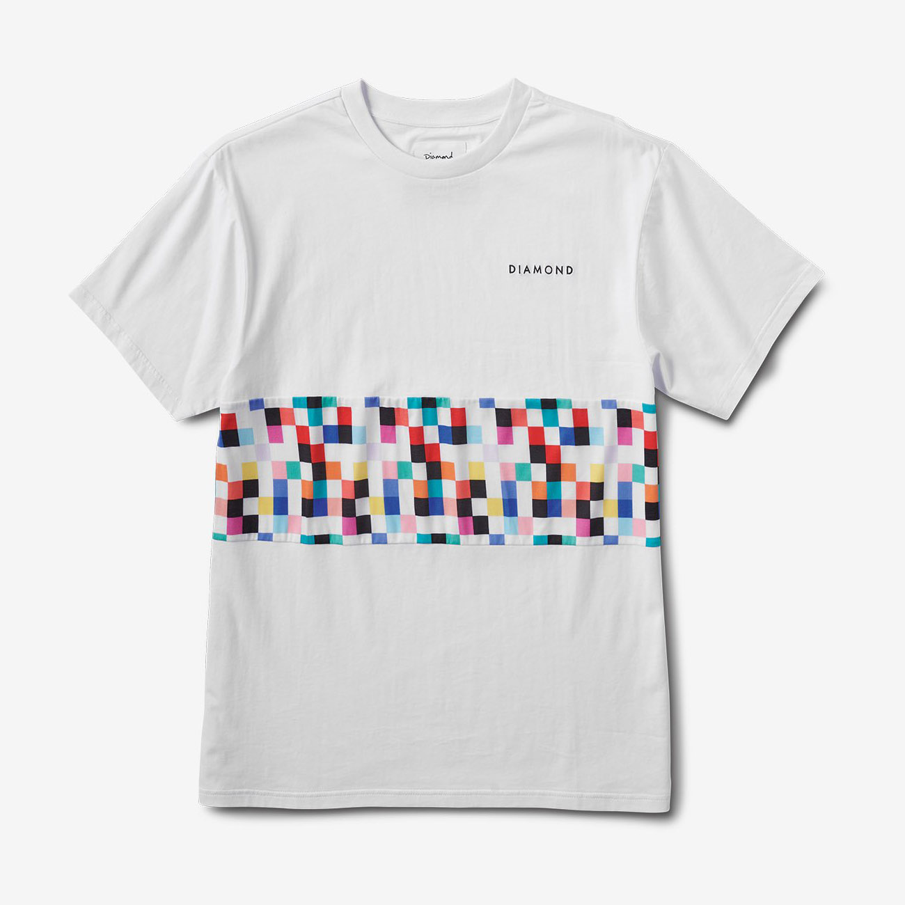 DMD TEE PIXEL PANEL WHT M - Click to enlarge