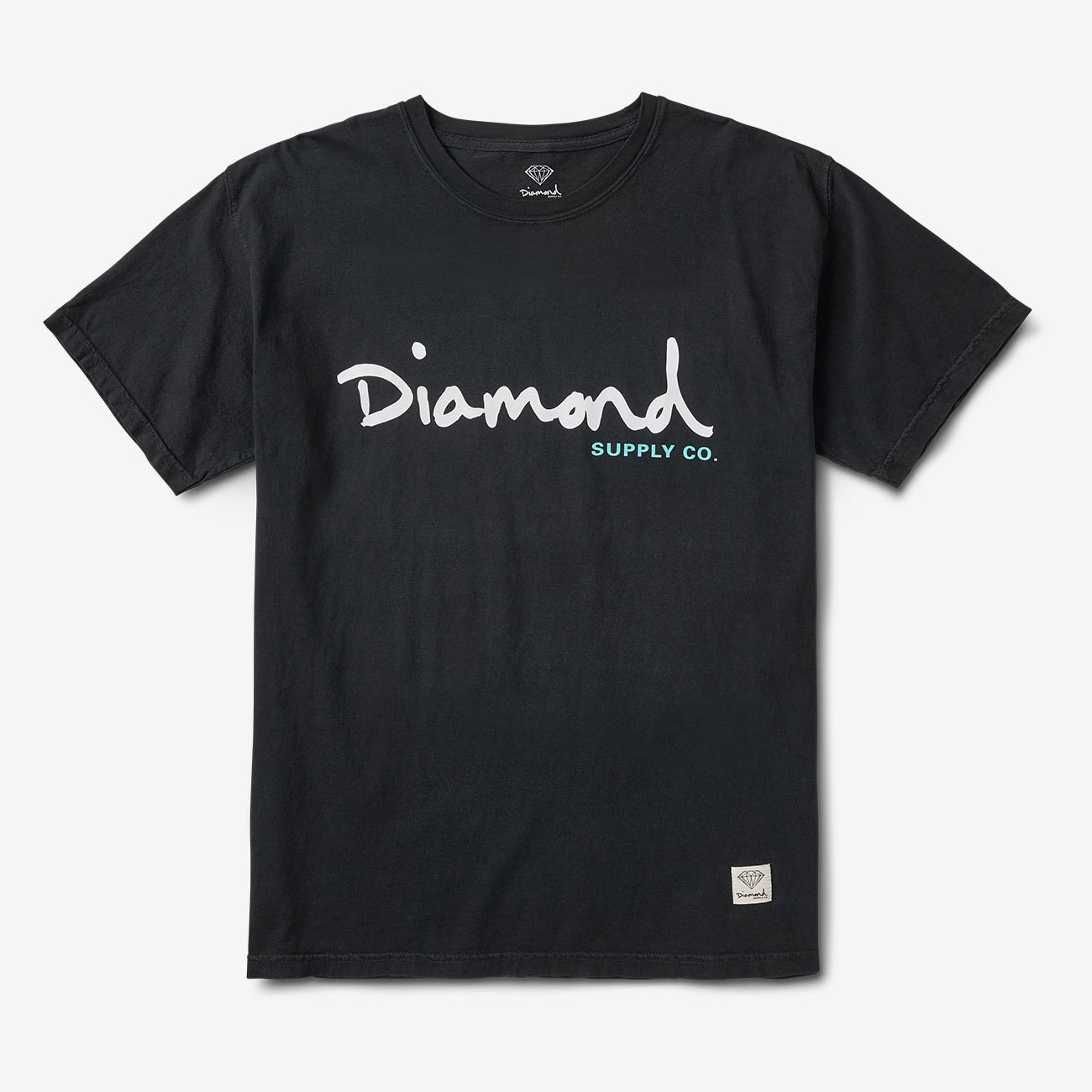 DMD TEE OG SCRPT OVERDYE BK M - Click to enlarge