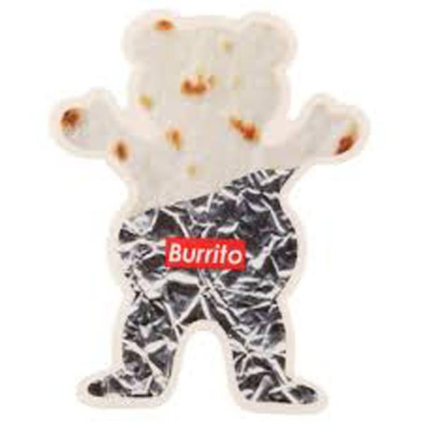 GRZ STKR BURRITO BEAR 10PK - Click to enlarge