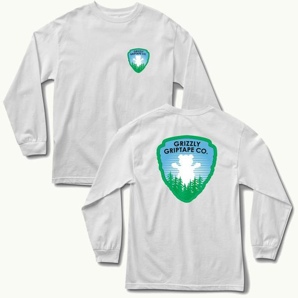 GRZ LS TEE NATIONAL PRK WHT XL