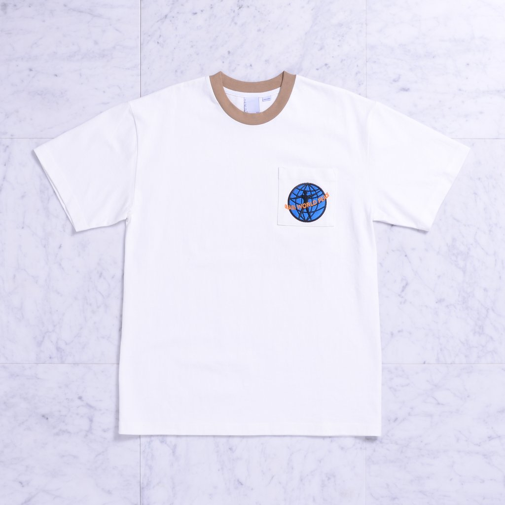 QSI TEE PKT WORLD PEACE TAN S - Click to enlarge