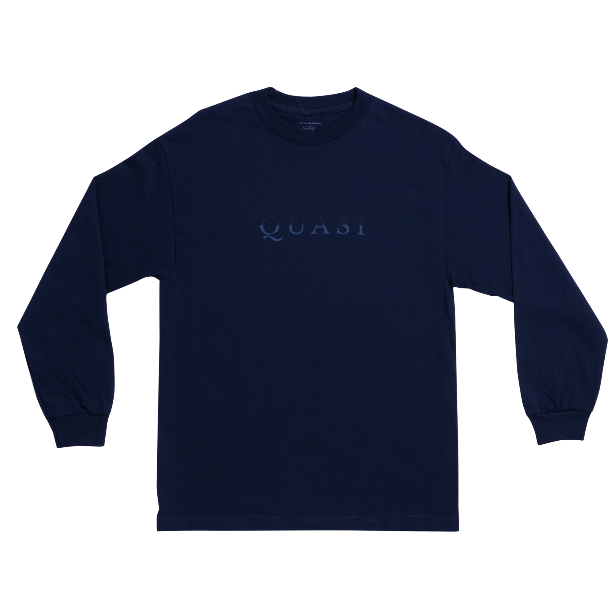 QSI LS TEE WORDMARK NVY XL - Click to enlarge