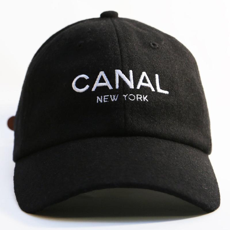 CNL CAP ADJ ADULT PRM WOOL BLK