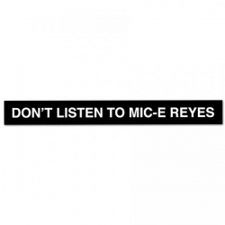 RL STKR DONT LISTEN TO MIC 10P - Click for more info