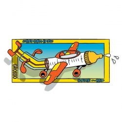 AH STKR FLYING LOW M 10PK - Click for more info