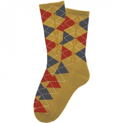 AH SOCK ARGYLE YEL - Click for more info