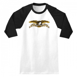 AH 3/4 TEE EAGLE WHT/BLK M - Click for more info