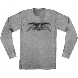AH LS TEE BASIC EAGLE HTH/BK L - Click for more info