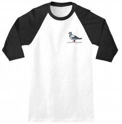 AH 3/4 TEE LIL PIGEON W/B M - Click for more info