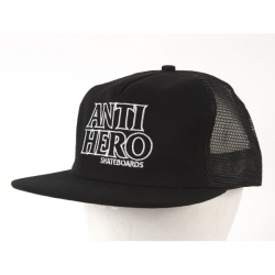 AH CAP TRKR OUTLINE HERO BLK - Click for more info