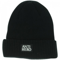 AH BEANIE BLACKHERO CUFF BLK - Click for more info