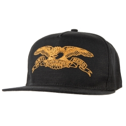 AH CAP ADJ BASIC EAGLE BLK/BRN - Click for more info