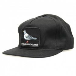 AH CAP ADJ PIGEON PATCH BLK - Click for more info