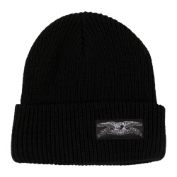 AH BEANIE STOCK EAGLE LABL BLK - Click for more info