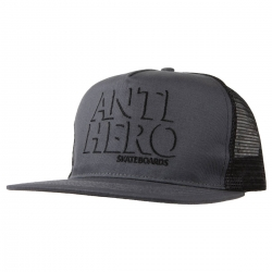 AH CAP TRKR DROPHERO GRY/BLK - Click for more info