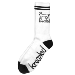 KRK SOCK KAT WHT/BLK - Click for more info