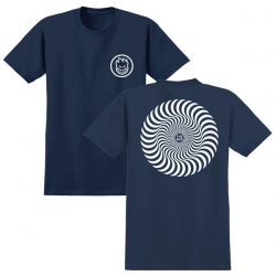 SF TEE CLSC SWIRL NVY/WHT L - Click for more info
