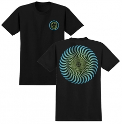 SF YT TEE CLSC SWIRL BK/GRN YM - Click for more info