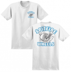 SF YT TEE CLEAN BRNR WT/BLU YL - Click for more info