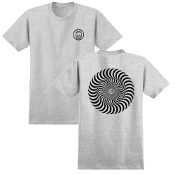SF TEE CLSC SWIRL HTHR/BK S - Click for more info