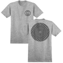 SF TEE CLSC SWIRL HTHR/BK M - Click for more info