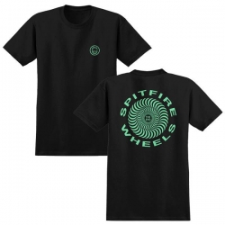 SF TEE RETRO CLSC BLK/GLOW M - Click for more info