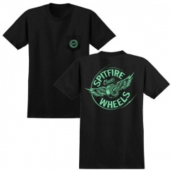 SF TEE PKT FLYNG CLSC BK/GL L - Click for more info