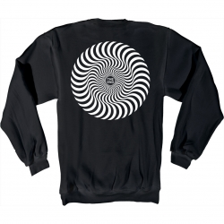 SF SWT CREW CLSC SWRL BLK/WT M - Click for more info