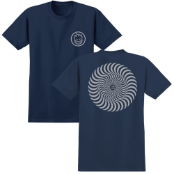 SF TEE CLSC SWIRL NVY/GRY L - Click for more info