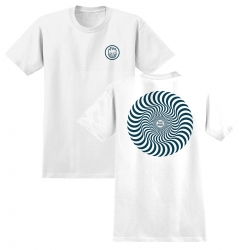 SF TEE CLSC SWIRL WHT/TEAL M - Click for more info