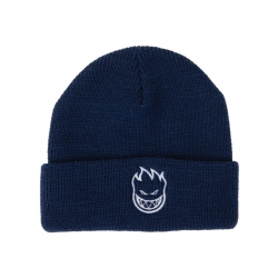 SF BEANIE BIGHEAD CUFF NVY/WT - Click for more info