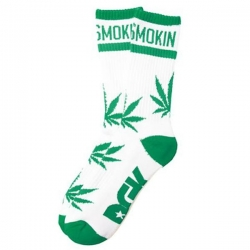 DGK SOCK STAY SMOKIN WHT/GRN - Click for more info