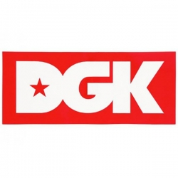 DGK STKR LOGO XL RED 10PK - Click for more info