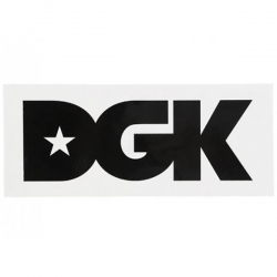 DGK STKR LOGO XL WHT 10PK - Click for more info