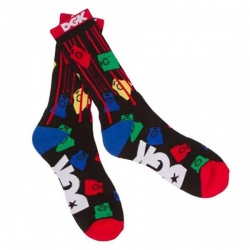 DGK SOCK PAINT TIPS BLK - Click for more info