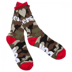 DGK SOCK HATERS CAMO/WHT/RED - Click for more info