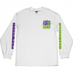DGK LS TEE LAUGH NOW WHT S - Click for more info