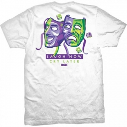 DGK TEE LAUGH NOW WHT M - Click for more info