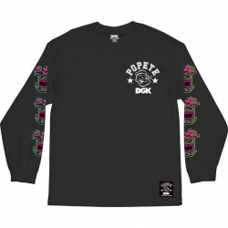 DGK LS TEE POPEYE SPINCH BLK M - Click for more info