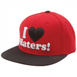 DGK CAP ADJ HATERS RED/BLK - Click for more info